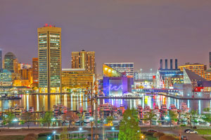 baltimore inner harbor at night - Christmas In Baltimore