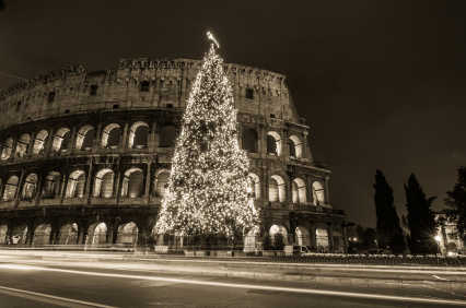 Rome Colosseum at Christmas