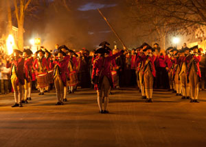 Illumination of the Taverns Parade, Colonial Williamsburg